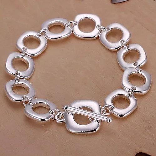 Square Peg, Round Hole Toggle Bracelet