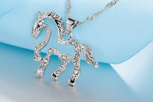 Silver White Horse