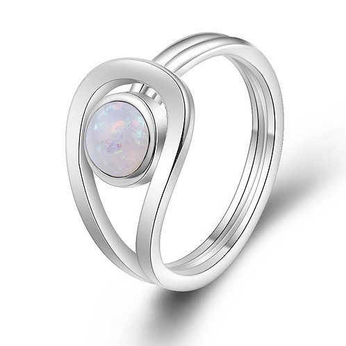 Looped Fire Opal Ring