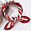 Thumbnail: Cranberry Striped Accessory Square Scarves