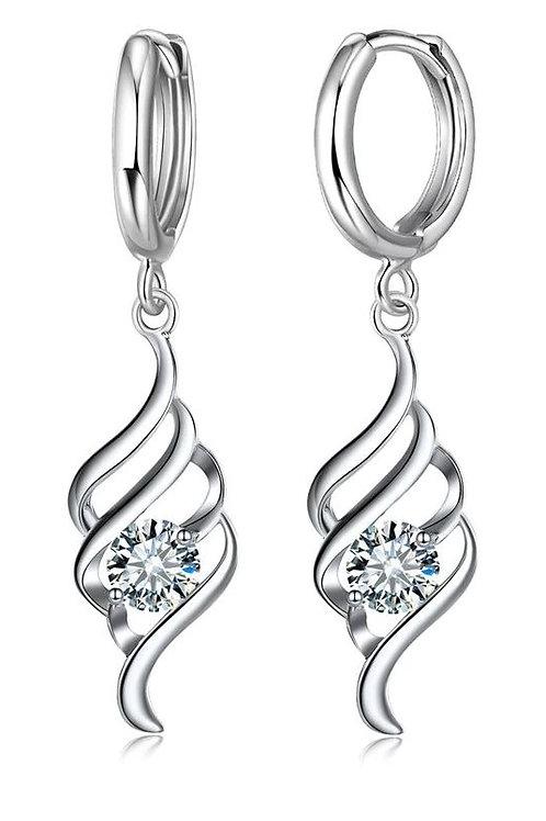 Curvy Silver Sparkle