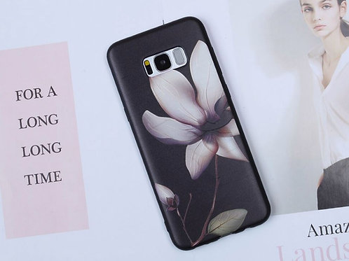 Brown Flower on Black Case