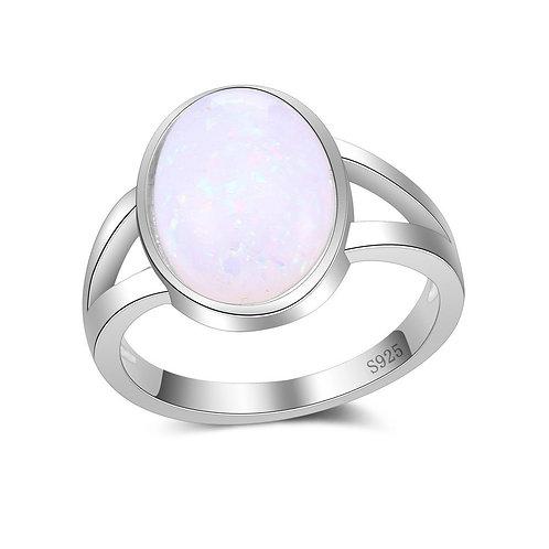 Fire Opal Oval Ring