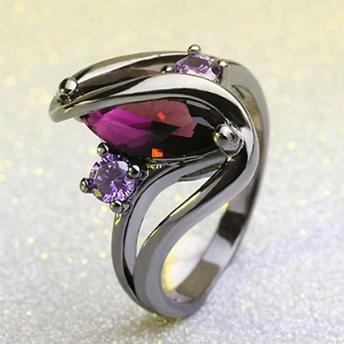 Mini Black & Purple Ring