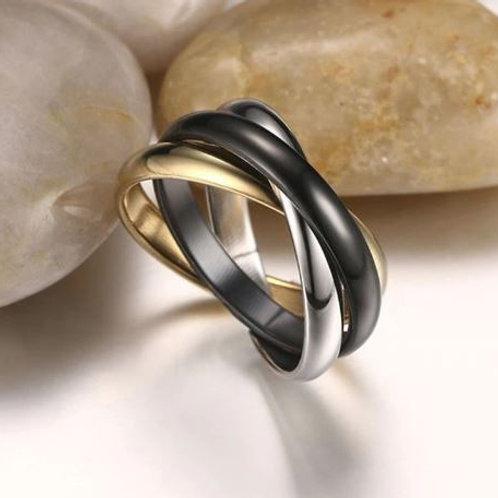 Meditation 3 Bands Ring