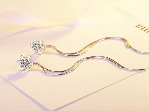 Snowflake Long Chain Earrings