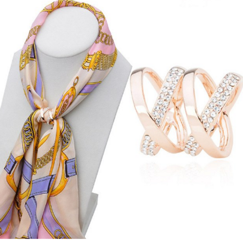 Crossover Scarf Ring