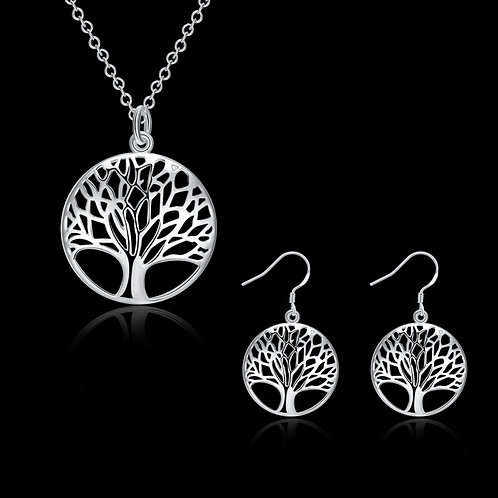 Tree of Life Silver Set