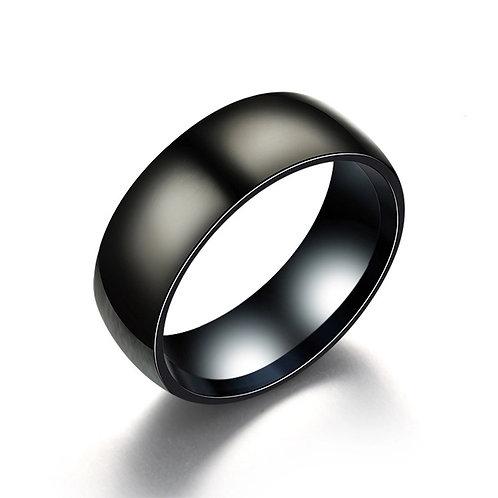Black Titanium Stainless Steel Ring
