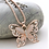 Thumbnail: Rose Gold Butterfly Necklace
