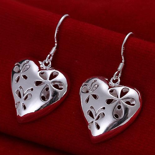 Groovy Flower Heart Earrings