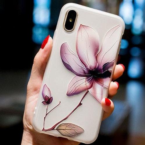 Brown Flower Case