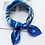 Thumbnail: Blue Striped Accessory Square Scarves