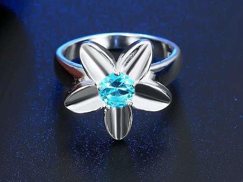 Blue Blossom Ring