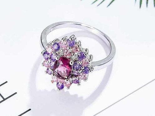 Pink & Purple Diamond Ring