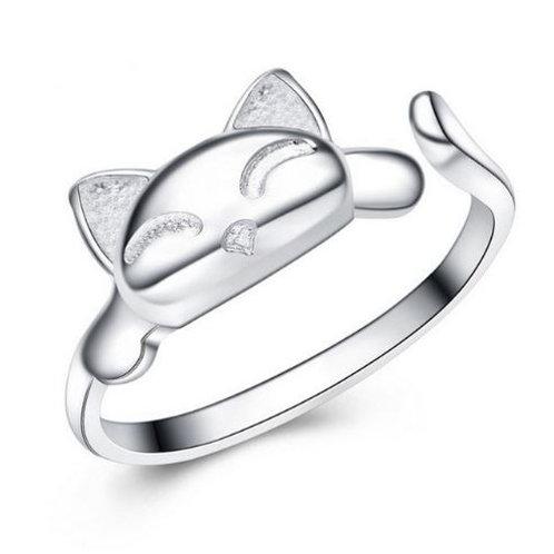 Happy Cat Adjustable Ring