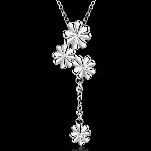 Long Drop Flower Necklace