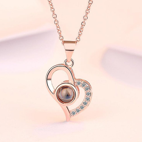 """Rose Gold """"I love you"""" Heart"""