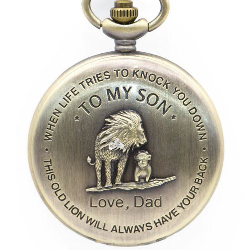 *To My Son* Love, Dad Large Pocket Watch
