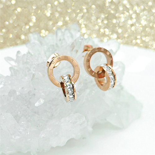 Roman Numeral Rose Gold Rings
