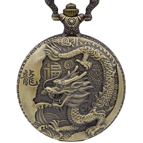 Chinese Dragon Large Pocket Watch