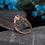 Thumbnail: Light Aqua Solitaire in Rose Gold