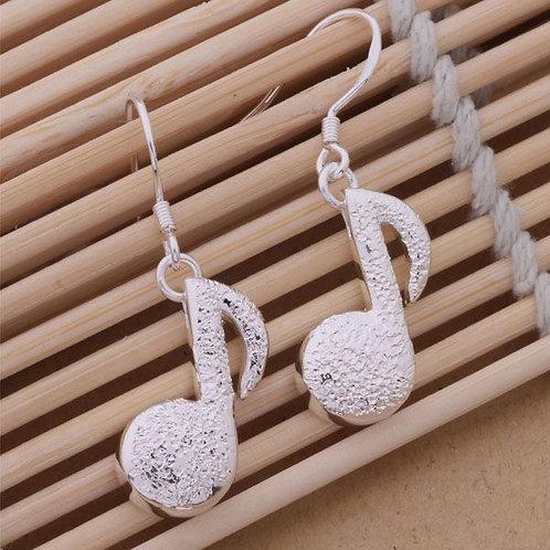 Music Note Drop Earrings