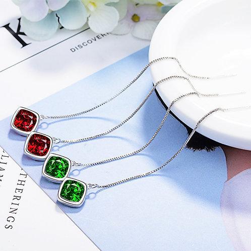 Jewel Long Chain Drops