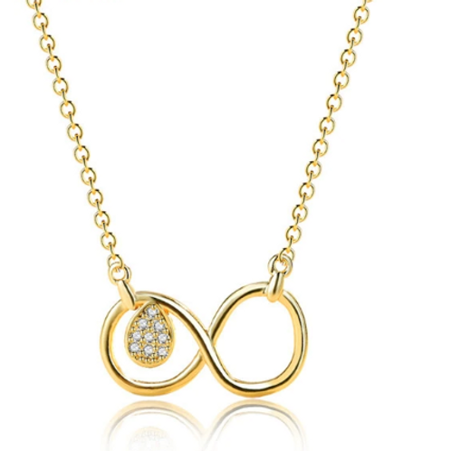 24K Gold Colour Infinity Necklace