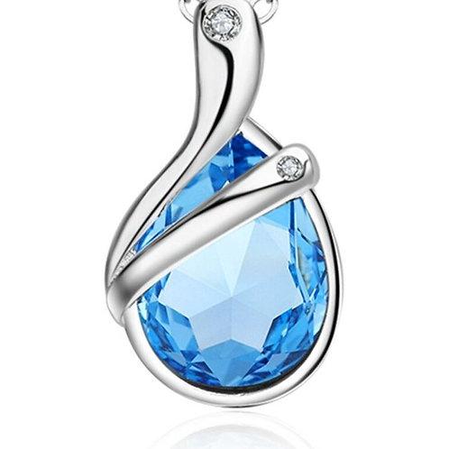 Electric Blue Water Drop