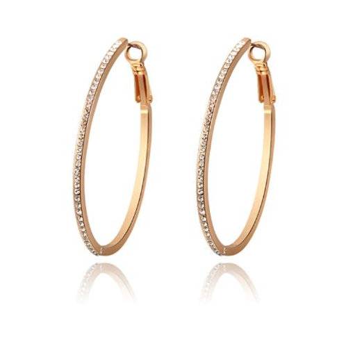 Large Oval Rose Gold Hoops