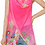 Thumbnail: Hot Pink - Peacock & Flowers Scarf Vest