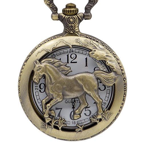 Trotting Horse Large Pocket Watch