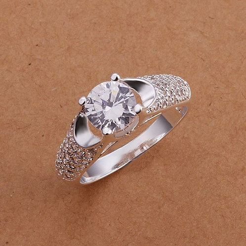 Solitaire and Pave Shoulders