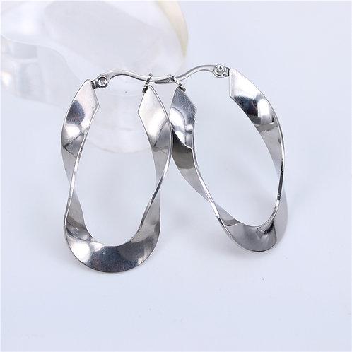 Wacky Waves Stainless Steel Earrings