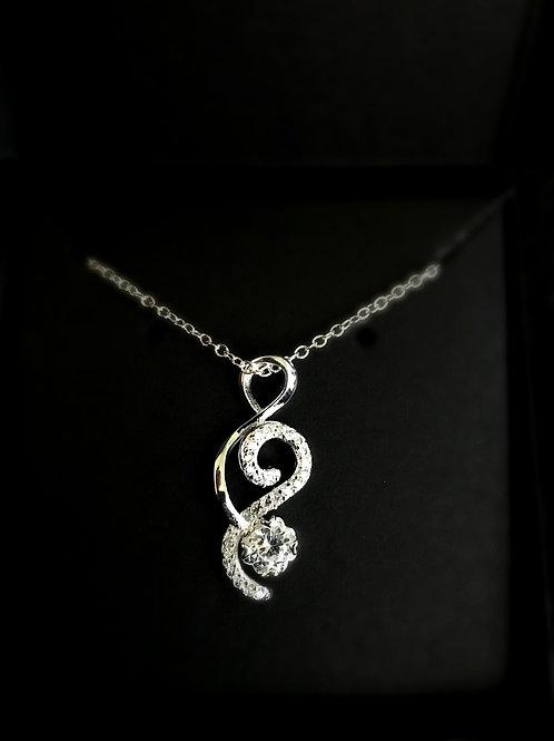 Sparkly Treble Clef Necklace