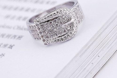 Glitzy Belt Buckle Ring