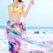 Straight - Sarong Wrap - Watercolors - c
