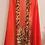 Thumbnail: Orange with Animal Print Border Scarf Vest