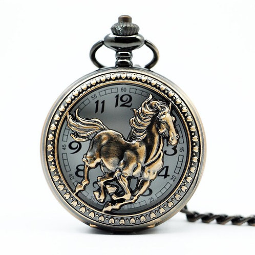 Vest Galloping Horse Large Pocket Watch