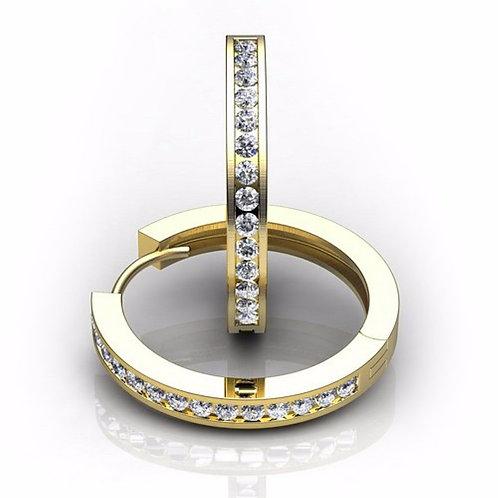 Gold & Sparkle 2mm Huggie Earrings