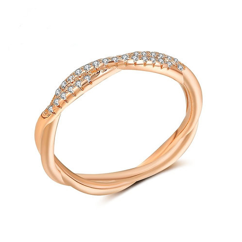 Twist and Shout Rose Gold Band