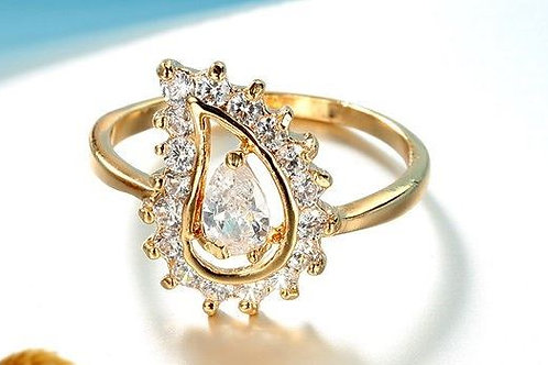 Gold Filled Tear Drop Ring