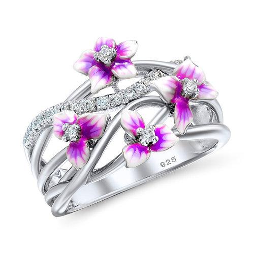 Pink Enamel Flowers
