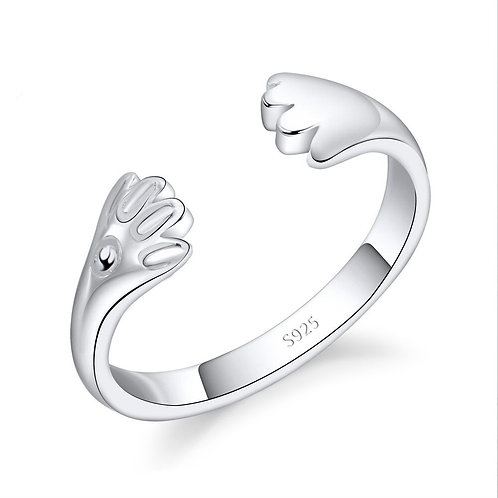 Light Puppy Paws Ring