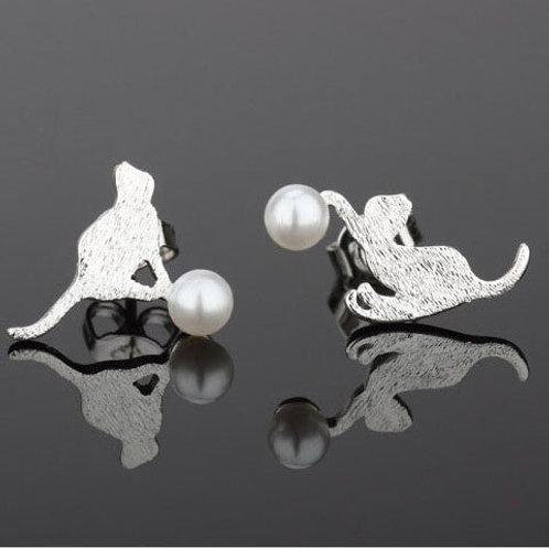 Playful Kitten Earrings