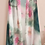Thumbnail: Pink and Green Watercolor Print Scarf Vest