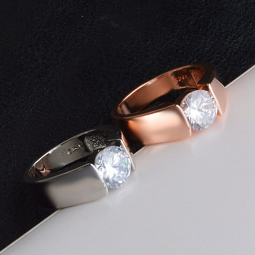Suspended Solitaire Ring