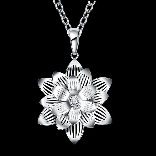 Uplifting Lotus Flower Necklace
