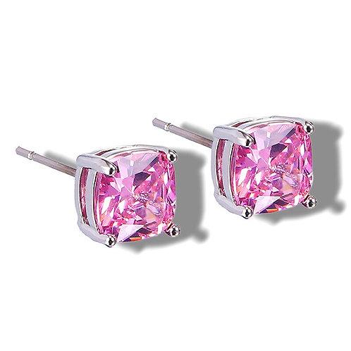 Cushion Stone Stud Earrings